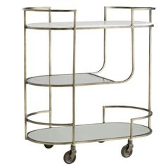 Three tiers crafted with an iron frame.The top tier inset with solid white marble, second clear glass and the third mirrored glass. Window Molding Trim, Cove Molding, Baseboard Molding, Panel Moulding, Staircase Handrail, Wooden Staircases, Wood Stairs, Staircase Design, Stair Brackets