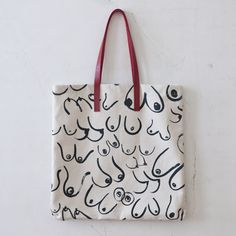 Large Boob Tote by Gravel & Gold Goods. Oh, yesss!