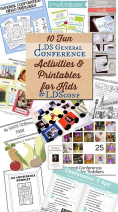 Enjoy this round up of printables and activity sheets for kids to use during LDS General Conference. #LDSconf