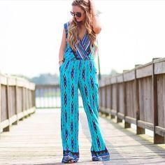 ❤️Wild child Aztec romper ❤️ Aztec Border Print Faux Wrap Jumpsuit  * 100% Rayon Lining  * 100% Polyester  Color : Print Harper Trends Pants Jumpsuits & Rompers