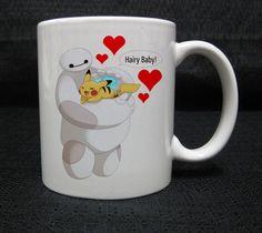 Baymax Pikachu Hairy Baby mug cup two side ceramic 11oz