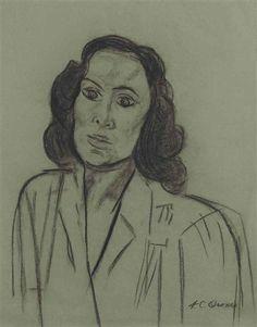 José Clemente Orozco - Portrait of Dolores del Río... on MutualArt.com