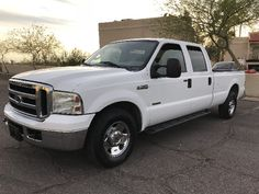 DIESEL!!Power Seats!Turbo!!!Accident free CarFax 1-Owner!!Thank you for visiting One of Arizona Best Cars listings! You looking at a pristine White-On-Tan Cloth Seats 6.0L V8 OHV 32V TURBO DIESEL 2006 Ford F250 XLT Crew Cab Long Bed 2WD with just 77000 Low Miles. Truck Looks And Runs Great, You won't find another vehicle like this with lower price!For further questions or inquires about this vehicle please call 602 870 8080. Check out our entire inventory of Pick Ups at ArizonaBestCars.com