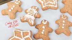 Holiday Traditions: Low Carb Gingerbread Cookies Cow Patties Cookies, Cooking Keto With Kristie, Pumpkin Spice Cookie Recipe, Low Carb Deserts, Icing Ingredients, Cookie Calories, Keto Cookies, Gingerbread Cookies, Christmas Cookies