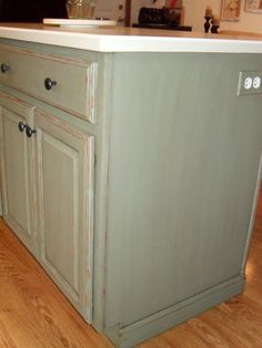 painting my kitchen island with annie sloan chalk paint, chalk paint, kitchen design, kitchen island, painting, I did light distressing