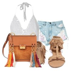 """""""White"""" by lia-fashion on Polyvore featuring Alexander Wang, Qupid and Chloé"""