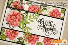 Made with the Painted Autumn stamp set from the Painted Autumn StampTV Kit by www.ginakdesigns.com. ❤️
