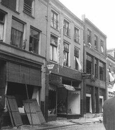 Deventer, Nieuwstraat na bombardement februari 1945