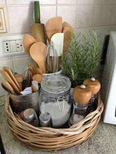 Cute counter storage idea