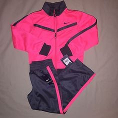 GIRLS SIZE 6 NIKE TRACK JACKET PANT OUTFIT LOT OF 2 NWT