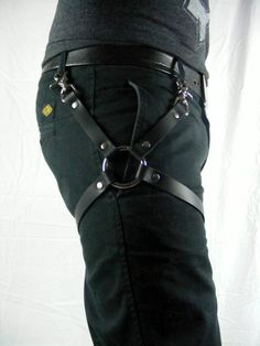 Leather Leg Harness Black This Leg harness is great accessory. You can easily wear it over your favorite pair of jeans to bring a new stylish look. (Accessories coming soon) * Available in Vegan Leather Leg Harness, Leather Harness, Vegan Leather, Black Leather, Leather Accessories, Thighs, Pairs, Belt, Stylish