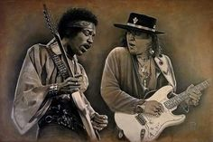 Jimmy Hendrix and Stevie Ray Vaughan