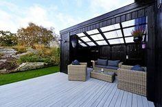 Skaarlia - Påbygget enebolig i kjede med hage ut mot friområde