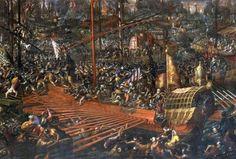 """Seeschlacht bei Lepanto"", 1571,   Vicentino"