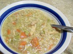 Photo: I made the most AWESOME chicken rice soup in my crock pot today. It was SOOO easy and it's SOOOO yummy! Here is the recipe: 4 cans ...