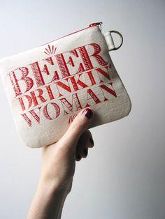 HummingbirdFactory | Beer Drinkin' Woman Wallet $22.... I need this on a tank!