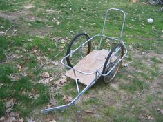 Make your own cargo trailer. $30 for parts and 250 lb capacity!
