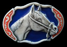 Western Horse Mere Equestrian Ranch Metal Belt Buckle Belts Buckles #CoolBuckles #horse #horsebuckle #horsebeltbuckle #ilovehorses #animal #beltbuckle #buckles