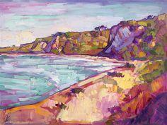 Coastal painting by impressionist painter Erin Hanson