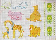 animali mamme con i cuccioli giraffa ippopotamo gallina