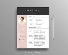 creative resume template cv template cover letter for ms word iwork instant download modern resume design mac pc - Creative Resume Templates Free Word