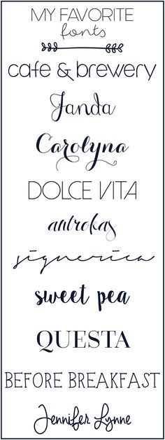 Top Fonts for Design! Calligraphy Fonts, Typography Fonts, Typography Design, Vinyl Lettering, Caligraphy, Cute Fonts, Fancy Fonts, Cute Handwriting Fonts, Top Fonts
