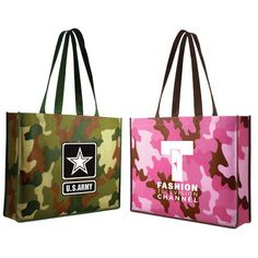 This product was made to stand out! The Non-Woven Camo Tote Bag is a fitting…