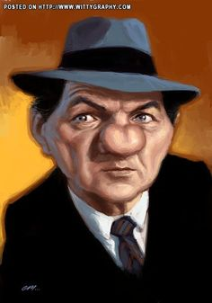 Karl Malden..FOLLOW THIS BOARD FOR LOTS OF GREAT CARICATURES OF FAMOUS PEOPLE...