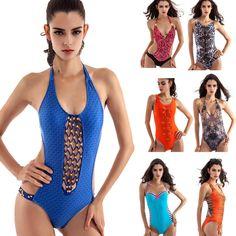 Hot Sexy Summer Women Printing One Piece Swimsuit Padded Bikini Swimwear Bikini  #1989_2019 #Bikini #CasualSportSwim