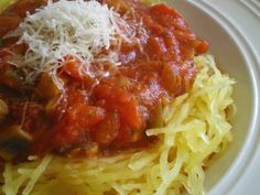 Spaghetti Squash is very easy to cook in a toaster oven. Cut the squash in half lengthwise. Scoop out the seeds. Add a little water to the hole left by the seeds. Squash spaghetti. Cover it with aluminum foil and bake for about an hour. The squash is done when you can prick it easily with a fork. Use the fork to scrape the spaghetti strands onto your dish. Pour on some tomato sauce and sprinkle on a little Parmesan cheese and you would never know it's not really pasta.