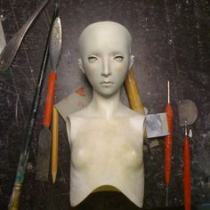 Snaeffel make-up overpaint by RE-main.deviantart.com on @deviantART (Beautiful hand made ball jointed doll)