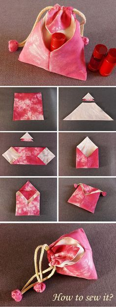 Japanese traditional Bag DIY Tutorial  http://www.free-tutorial.net/2016/12/japanese-omiyage-gift-bag.html