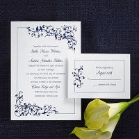 Invitations with Navy Ink
