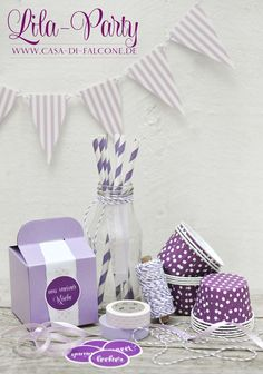 lila party Lila Party, Purple Party, All Things Purple, Shabby Chic, Packaging, Gift Wrapping, Invitations, Entertaining, Candy