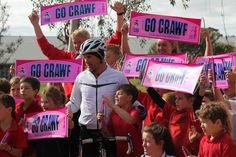 Community support for Tour de Crawf