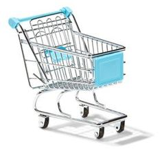Pen Cup - Blue Shopping Trolley