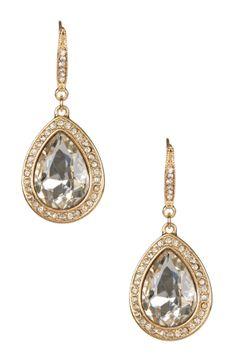 Julia Swarovski Crystal Teardrop Earrings