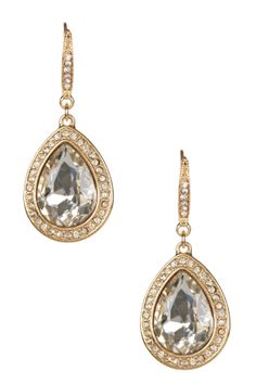 Julia Swarovski Crystal Teardrop Earrings