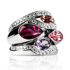 Princesse K - Fred Paris  (or gris, diamants avec rubellite, tourmaline rose, améthyste et tourmaline prune)