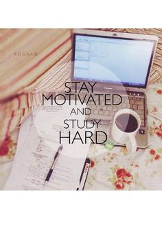 Stay motivated by (1) making a study commitment with a friend (so you're less likely to bail), (2) breaking down the material into smaller parts, (3) making the material relatable, (4) celebrating your successes, and (5) rewarding yourself (give yourself something to look forward to).