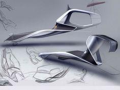 Opel Trino interior ideation by Vladislav Domanin.  More sketches here.