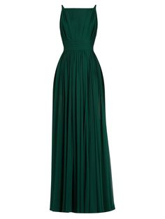 Square-neck sleeveless silk-georgette gown | Elie Saab | MATCHESFASHION.COM
