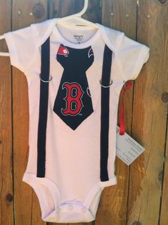 Baby boy Neck Tie Onesie Boston Red Sox by SarahJoyceDesigns, $18.00 yes! totally getting one for mine weather its a boy or girl! :D