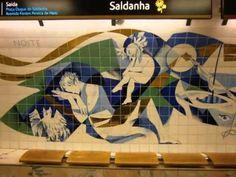 Metro Lisboa - Estação Saldanha by Necy Guerreiro