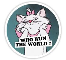 who run the world Sticker