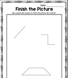 Classroom Freebies: Finish the Picture - Get Creative!