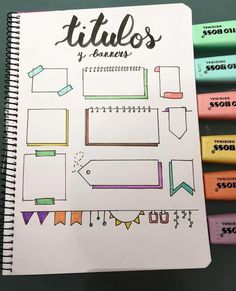 Aaria's Bujo Inspiration! Aaria's Bujo Inspiration! Bullet Journal School, Bullet Journal Inspo, Bullet Journal Headers, Bullet Journal Banner, Bullet Journal 2019, Bullet Journal Notebook, Bullet Journal Aesthetic, Bullet Journal Ideas Pages, Bullet Journals