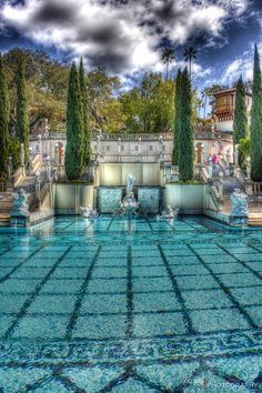Hearst Castle Pool - Hearst Castle Is A Historical & California National Monument Located In Central California