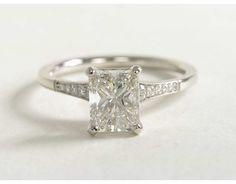 1.52 Carat Diamond Graduated Milgrain Diamond Engagement Ring | Blue Nile Engagement and Wedding Rings