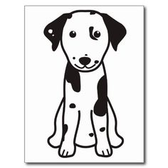 Dalmatian Dog Cartoon Postcards